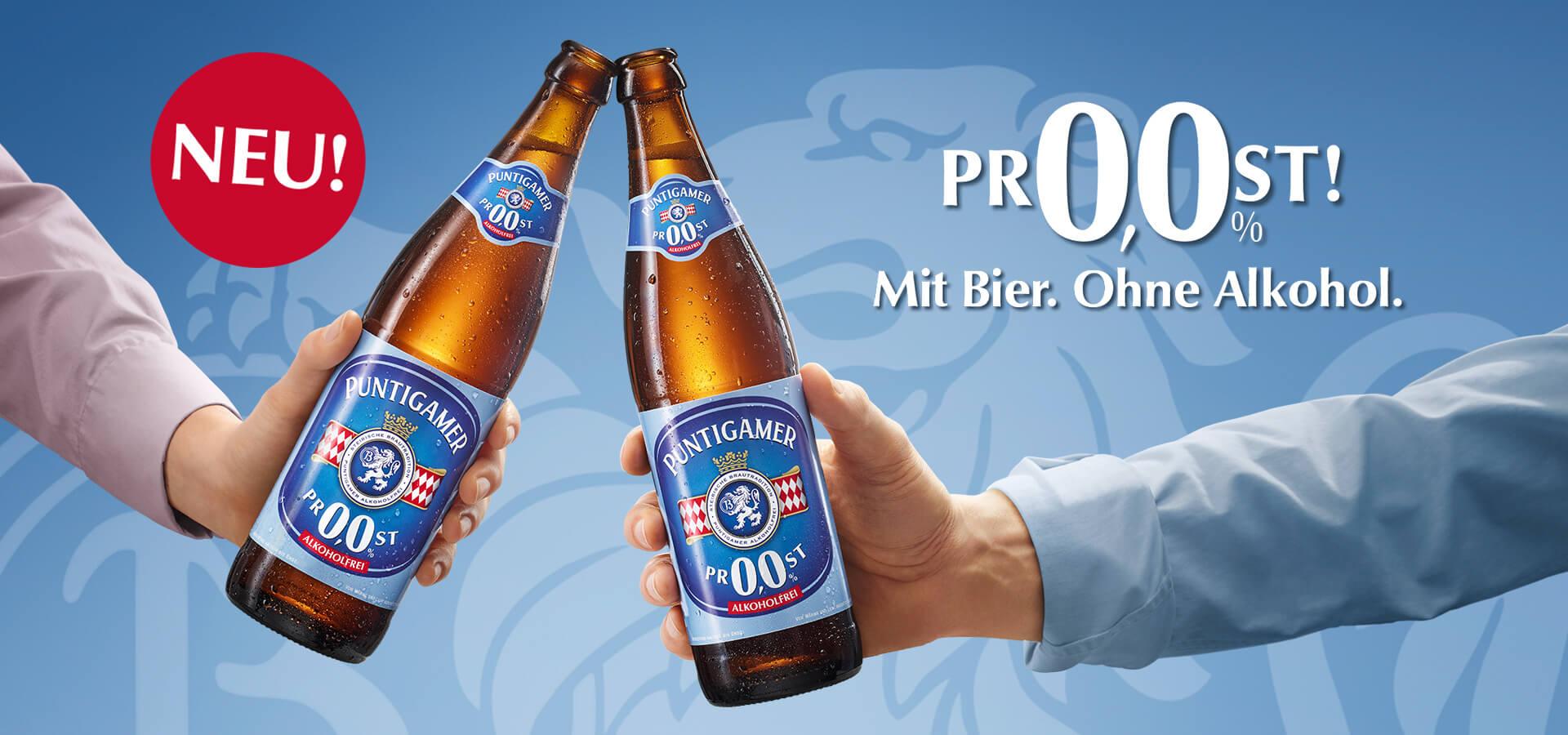 Mit Bier. Ohne Alkohol.